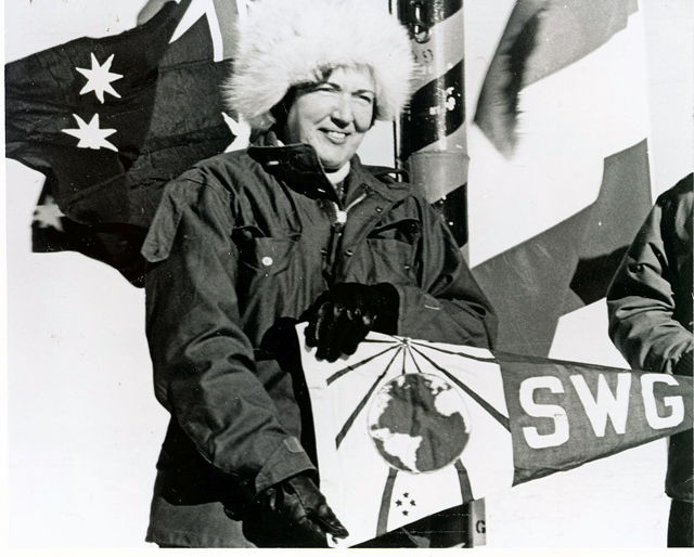 Edith Ronne at the South Pole